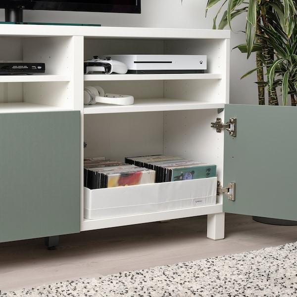 STUK Caja c/compartimentos, blanco, 34x51x10 cm