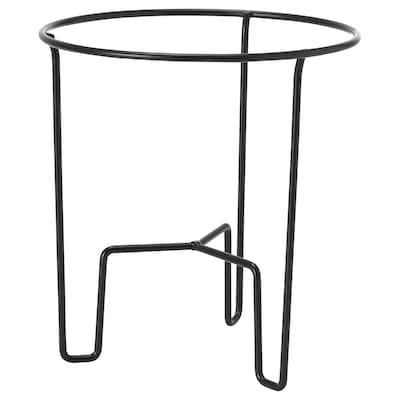 SVARTPEPPAR Pedestal para plantas, int/ext negro, 21 cm