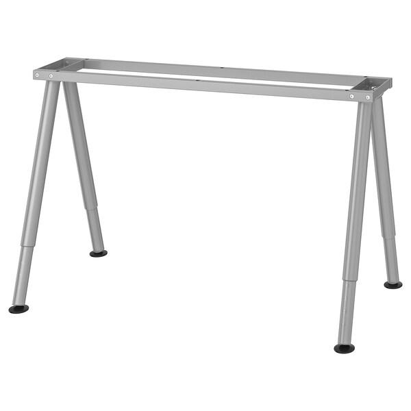 THYGE Estructura para tablero, color plateado, 120x60 cm