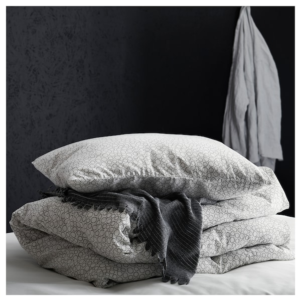 TJÄRBLOMSTER Colcha, gris, 150x210 cm