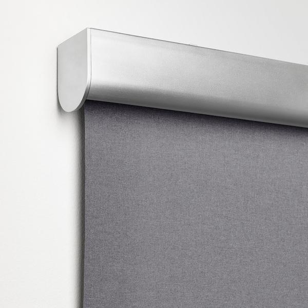 TRETUR Persiana enrollable, bloqueo de luz, gris claro, 86.4x195 cm