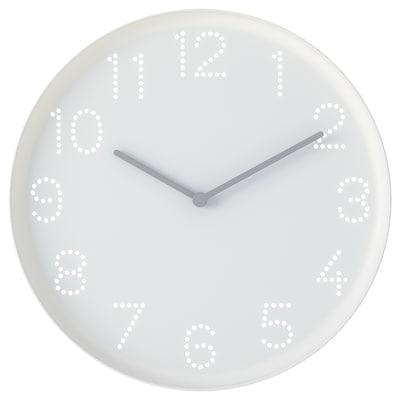 TROMMA Reloj de pared, blanco, 25 cm