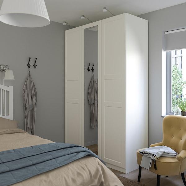 TYSSEDAL Puerta con bisagras, blanco/espejo, 50x229 cm