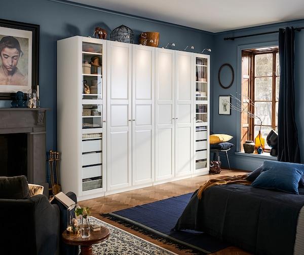 TYSSEDAL Puerta con bisagras, blanco, 50x229 cm
