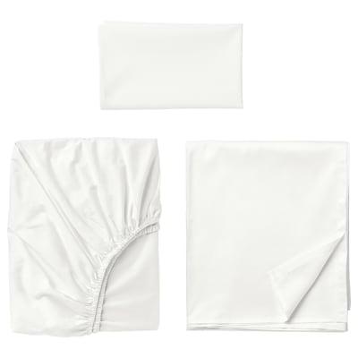 ULLVIDE Juego de sábanas, blanco, Individual