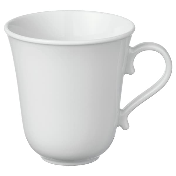 UPPLAGA Taza, blanco, 35 cl