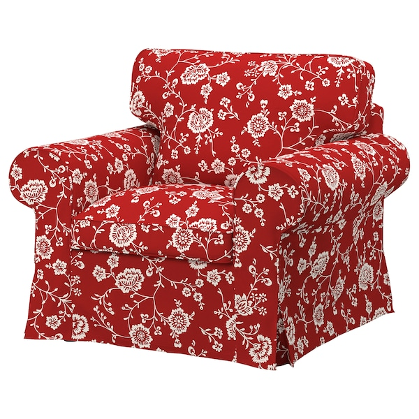 UPPLAND Funda para sillón, Virestad rojo/blanco