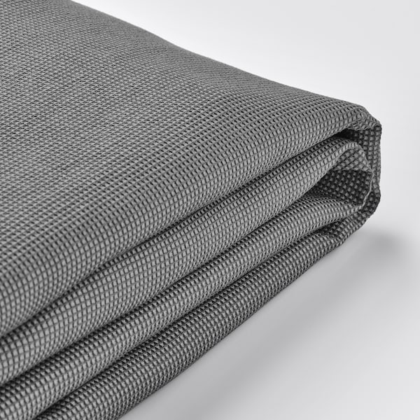 UPPLAND Funda para sofá de 3 asientos, +chaiselongue/Remmarn gris claro