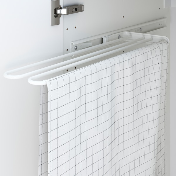 UTRUSTA Toallero, blanco, 16 cm