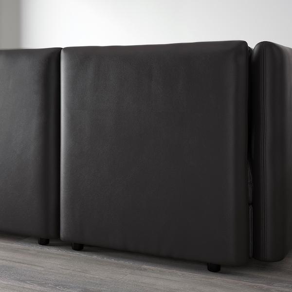 VALLENTUNA Sofá de esquina, 6 asientos, Murum negro
