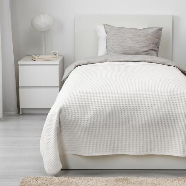 VÅRELD Colcha, blanco, 150x250 cm