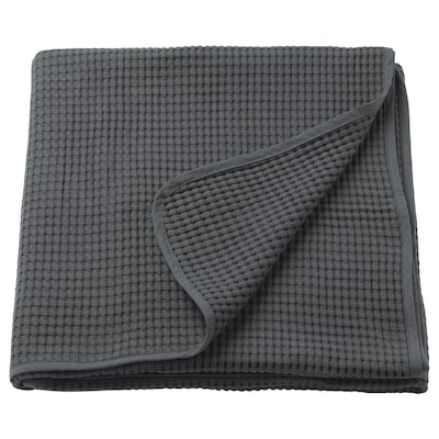 VÅRELD Colcha, gris oscuro, 230x250 cm