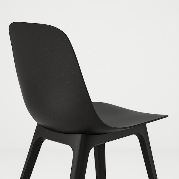 VEDBO / ODGER Mesa y 4 sillas, negro/carbón, 160x95 cm