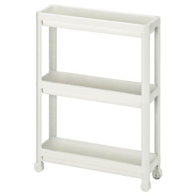 VESKEN Carrito, blanco, 54x18x71 cm