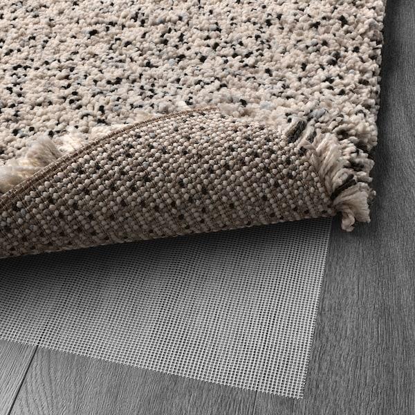 VINDUM Tapete, pelo largo, blanco, 170x230 cm