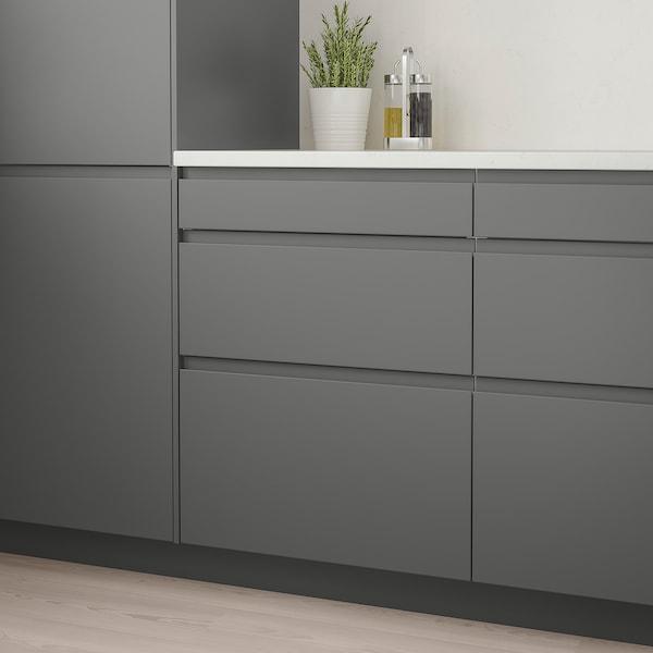VOXTORP Frente de cajón, gris oscuro, 38x38 cm
