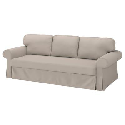 VRETSTORP Funda para sofá cama de 3 plazas, Totebo beige claro