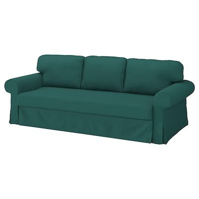 VRETSTORP Funda para sofá cama de 3 plazas, Totebo turquesa oscuro