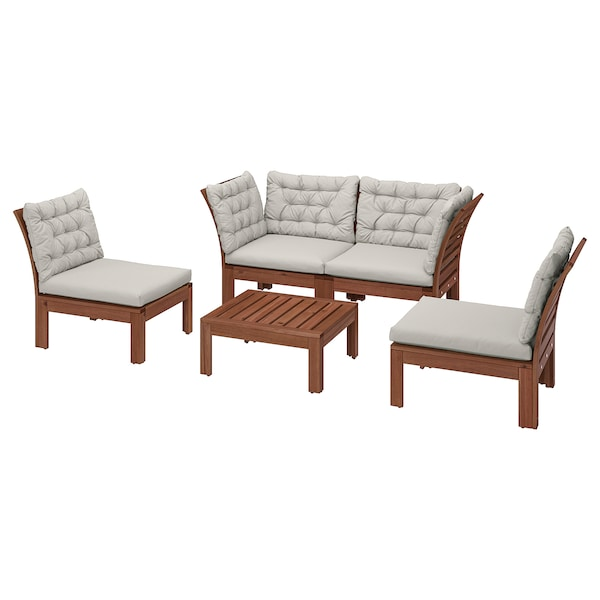 ÄPPLARÖ 4-seat conversation set, outdoor