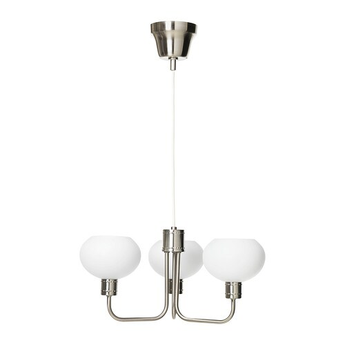 ÄLGHULT Pendant lamp, 3-armed   The lamp gives a soft light and creates a warm, cosy atmosphere in your room.