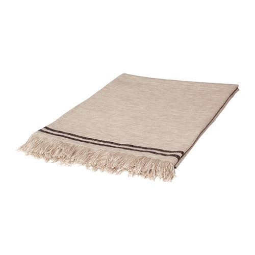 ALPKLOCKA Throw   Linen is strong and durable and gets softer after washing.