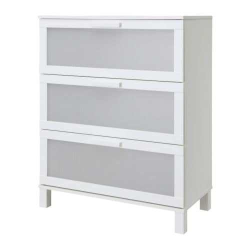ANEBODA Chest of 3 drawers   Smooth running drawers with pull-out stop.
