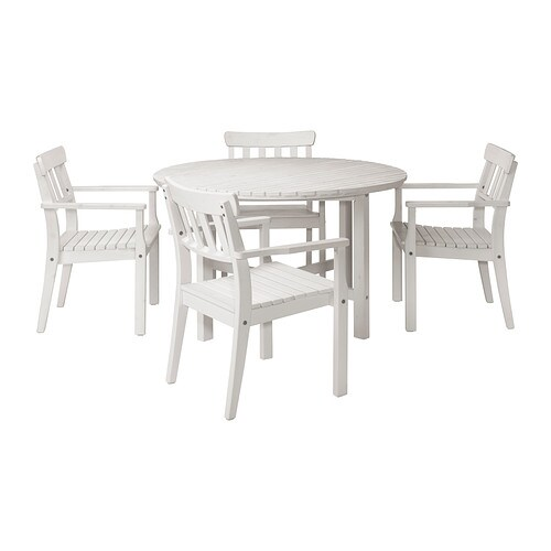 ÄNGSÖ Table+4 chairs w armrests, outdoor