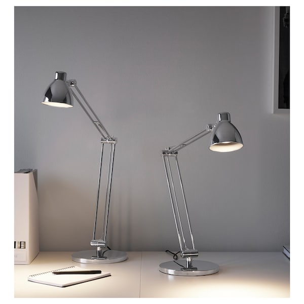 ANTIFONI Work lamp, nickel-plated
