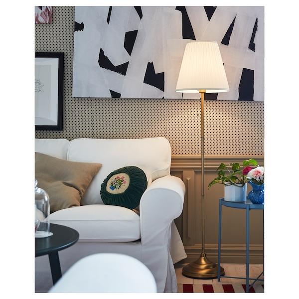 ÅRSTID Floor lamp, brass/white