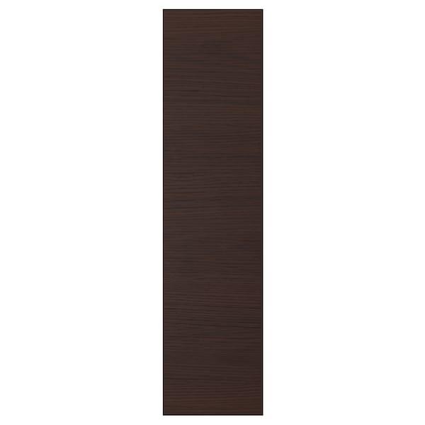 ASKERSUND Door, dark brown ash effect, 20x80 cm