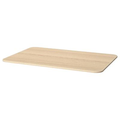 BEKANT Table top, white stained oak veneer, 120x80 cm