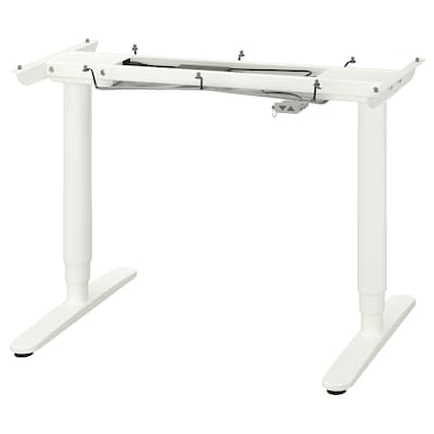 BEKANT Underframe sit/stand f table tp, el, white, 120x80 cm