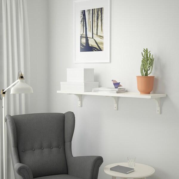 BERGSHULT / RAMSHULT Wall shelf, white, 120x30 cm