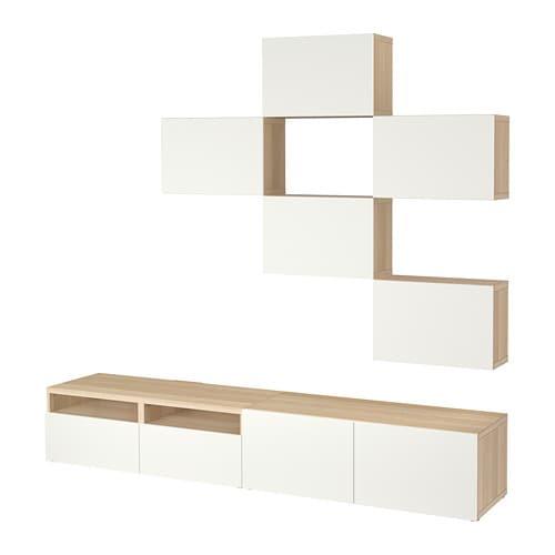 Bestå Tv Storage Combination White Stained Oak Effectlappviken