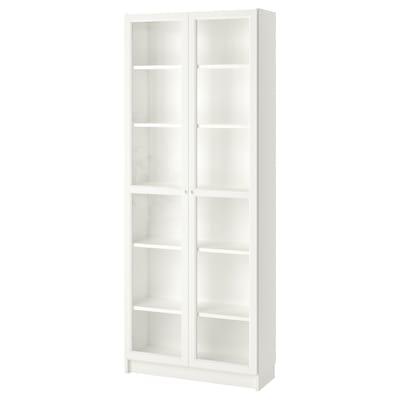 BILLY / OXBERG Bookcase, white, 80x30x202 cm