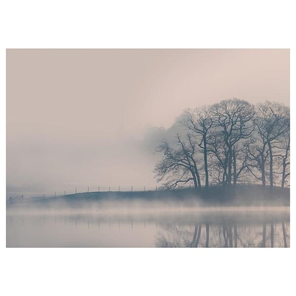 BJÖRKSTA Picture, Misty landscape, 140x100 cm