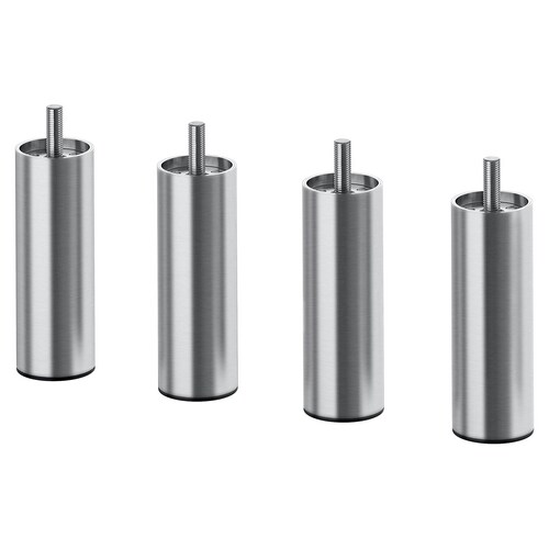 BJORLI leg stainless steel 38 mm 10 cm 4 pieces