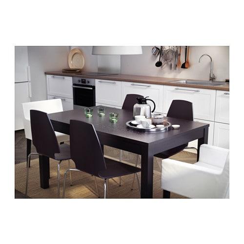 BJURSTA Extendable table white IKEA