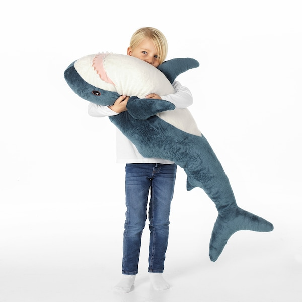 BLÅHAJ soft toy shark 100 cm