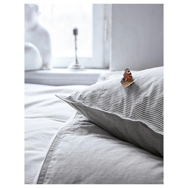 BLÅVINDA Duvet cover and 2 pillowcases, grey, 200x200/50x80 cm