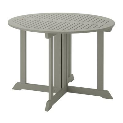 BONDHOLMEN Table, outdoor, grey, 108 cm