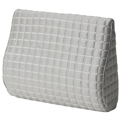 BORTBERG Lumbar cushion, grey, 31x23 cm