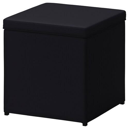BOSNÄS footstool with storage Ransta black 36 cm 36 cm 36 cm