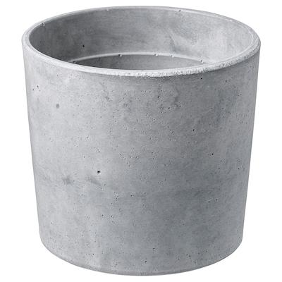 BOYSENBÄR Plant pot, in/outdoor light grey, 12 cm
