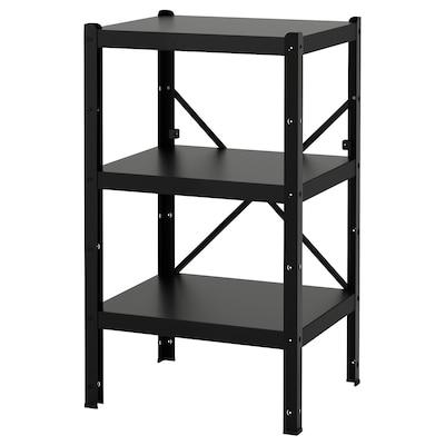BROR 1 section/shelves, black, 65x55x110 cm