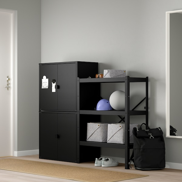 BROR 2 sections/shelves/cabinet, 161x40x133 cm