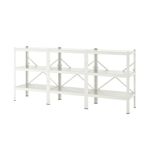 BROR shelving unit white 254 cm 40 cm 110 cm