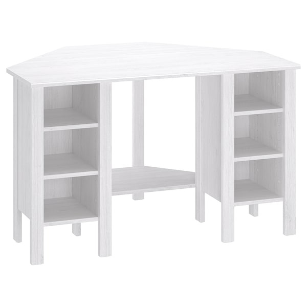 brusali corner desk white ikea