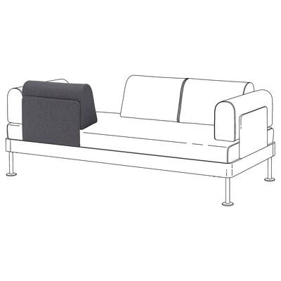 DELAKTIG Backrest with cushion, Gunnared medium grey