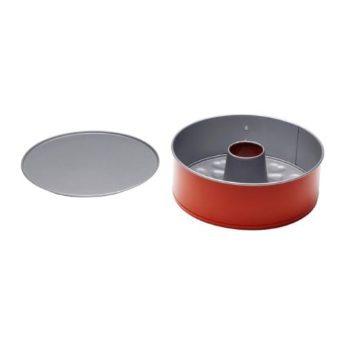 DRÖMMAR Two-in-one springform tin   With Teflon®Prima non-stick coating which means that food and pastry release easily.